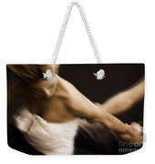 Young Woman Escaping From A Man Weekender Tote Bag