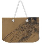 Young Woman In An Armchair Weekender Tote Bag