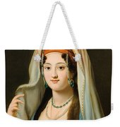 Young Woman In Traditional Ottoman Clothes Weekender Tote Bag