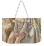 Young Woman In White Chemise Weekender Tote Bag