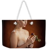 Young Woman Nude 1729.175 Weekender Tote Bag