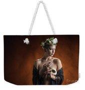Young Woman Nude 1729.179 Weekender Tote Bag