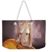 Young Woman Nude 1729.200 Weekender Tote Bag