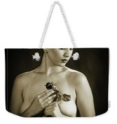 Young Woman Nude 1729.552 Weekender Tote Bag