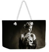 Young Woman Nude 1729.554 Weekender Tote Bag