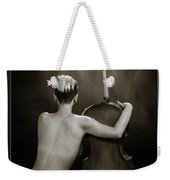 Young Woman Nude 1729.565 Weekender Tote Bag