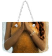 Young Woman Praying Weekender Tote Bag