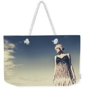 Young Woman Standing On The Beach Weekender Tote Bag