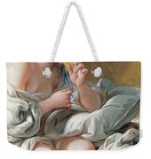 Young Woman Taking A Foot Bath Weekender Tote Bag