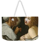 Young Woman With A Fortune Teller Weekender Tote Bag