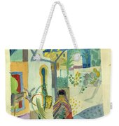 Young Woman With A Horse And A Donkey Weekender Tote Bag