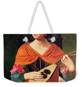 Young Woman With A Mandolin Weekender Tote Bag