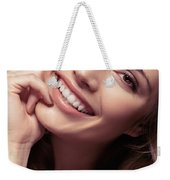 Young Woman With A Natural Smile Weekender Tote Bag