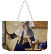 Young Woman With A Water Jug Weekender Tote Bag by Jan Vermeer
