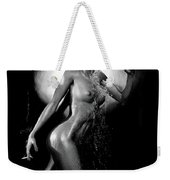 Young Woman With Champagne Weekender Tote Bag