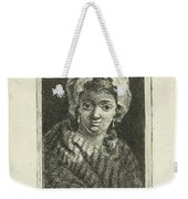 Young Woman With Hat And Curly Hair Weekender Tote Bag
