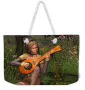 Young Women Playing The Lute Weekender Tote Bag