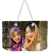 Young Women Silk Scarves 01 Weekender Tote Bag