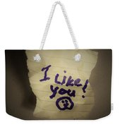 Your 1st Love Note Weekender Tote Bag