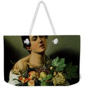 Youth With A Basket Of Fruit Weekender Tote Bag by Michelangelo Merisi da Caravaggio