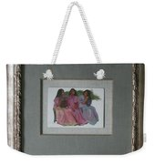 Youthful  Beauties Oil On Porcelain Weekender Tote Bag