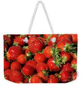 Yummy Fresh Strawberries Weekender Tote Bag