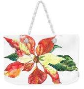 Yupo Poinsettia Weekender Tote Bag