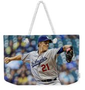 Zack Greinke Los Angeles Dodgers Weekender Tote Bag