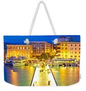 Zadar Colorful Blue Evening View Weekender Tote Bag