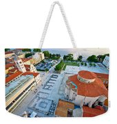 Zadar Forum Square Ancient Architecture Aerial View Weekender Tote Bag