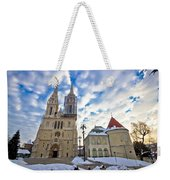 Zagreb Cathedral Winter Daytime View Weekender Tote Bag