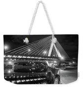 Zakim Bridge And Charles River, Boston, Massachusetts #92317 Weekender Tote Bag by John Bald