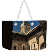 Zaouia El Tijaniya Mosque In Fes Morroco Weekender Tote Bag