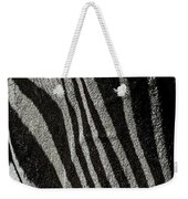 Zebra 3 Weekender Tote Bag