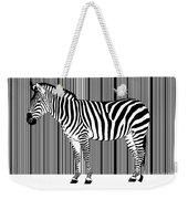 Zebra Barcode Weekender Tote Bag