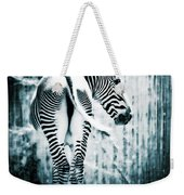 Zebra Blues  Weekender Tote Bag