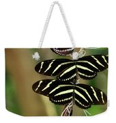 Zebra Butterflies Hanging On Weekender Tote Bag