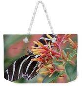 Zebra Butterfly With Blue Eyes Weekender Tote Bag
