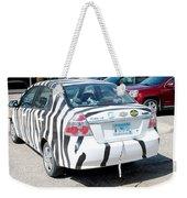 Zebra Car Rear Weekender Tote Bag