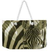 Zebra Close Up A Weekender Tote Bag