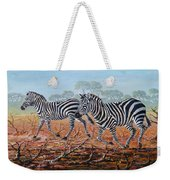 Zebra Crossing Weekender Tote Bag