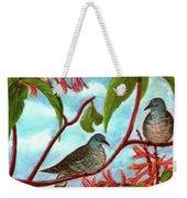Zebra Doves Or Barred Dove Birds #309 Weekender Tote Bag
