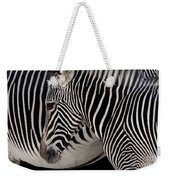 Zebra Head Weekender Tote Bag by Carlos Caetano