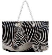 Zebra Head Weekender Tote Bag by Carlos Caetano
