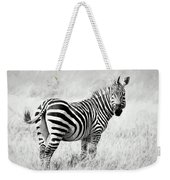 Zebra In The African Savanna Weekender Tote Bag