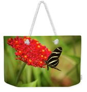 Zebra Long Wing Butterfly Weekender Tote Bag