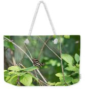 Zebra Longwing Butterfly About To Take Flight Weekender Tote Bag