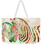 Zebra Lovin Weekender Tote Bag by Nikki Smith