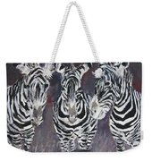 Zebra Oil Painting Weekender Tote Bag