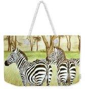 Zebra Pals Weekender Tote Bag